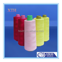 china factory wholesale 2015 top sale dyed and raw polyester spun yarn