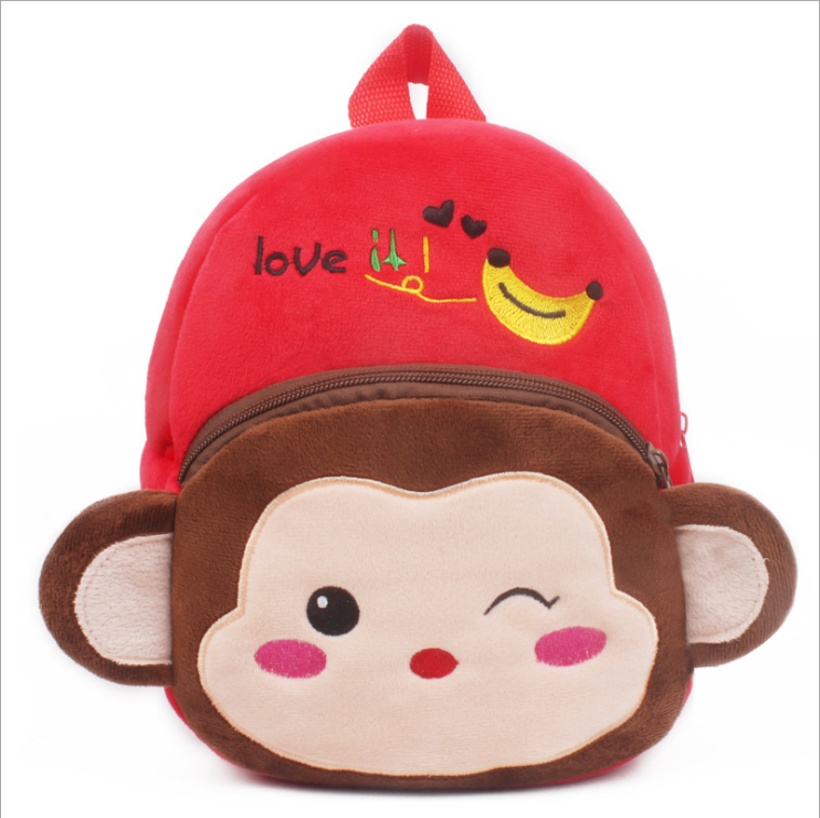 Wholesale Fashion Popular Shape Custom Printed Child stuffed toy School Bag For Children Students