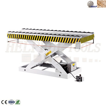 Helpful Brand Shandong Weihai Hydraulic lifting table (with roller device) HLT2513-2 hydraulic motorcycle lift table hydraulic