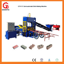 High Profit Energy Saving QT4-15 Soil Cement Hollow Paving Bricks Making Machine