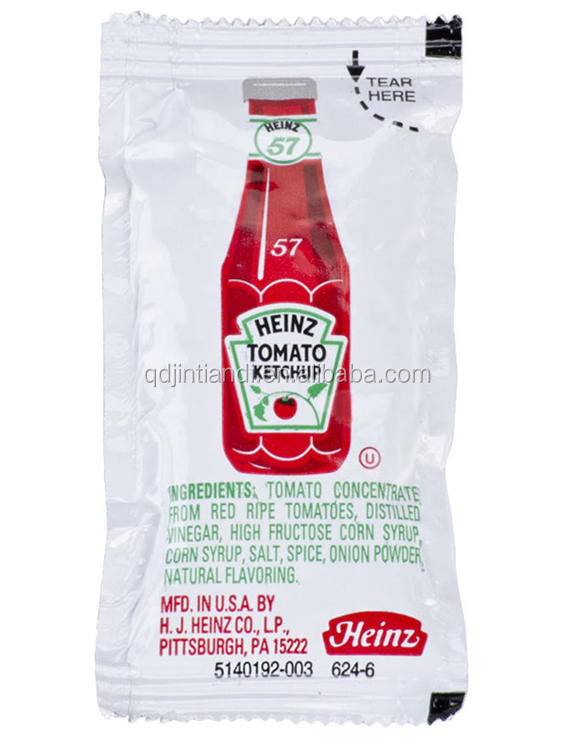 JTD manufacture wholesale custom printed condiment packets sachet