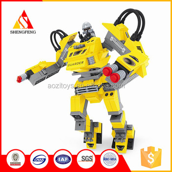 3D mini robot blocks toys abs building blocks toys
