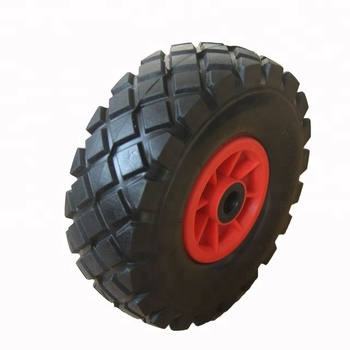 4.10/3.50-4 Solid Foam Trolley Tire Wheelbarrow Wheel and Axle