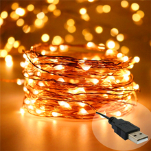 5V USB christmas mini copper wire string light to decorative house/coffee bar/bed room