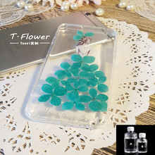 Clear Mobile Phone Shell Adhesive Epoxy Dome Resin and Hardener Case with Dried Flower