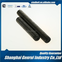High quality M10 3/8 Class 6.8 DIN975 plain double end threaded UN square thread steel bar