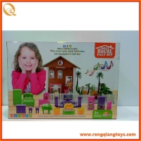 2014 new hot wooden doll house with music and light FN90770965