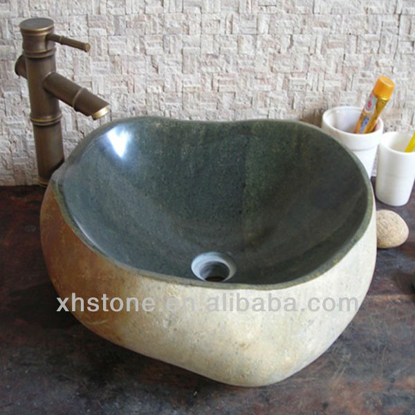 Natural River Stone Water Basin for hot sale