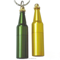beer bottle shape metal cool usb flash drive with keychain and personized logo