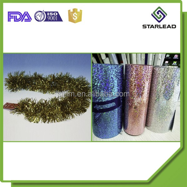 36micron colorful PET film PET foil 2 side coated for christmas