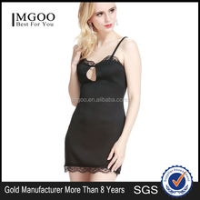 MGOO High Fashion Cheap OEM Manufacturer Night Wear Women Dress Sexy Bodycon Dresses Without Sleeves Black D361