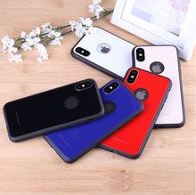 XNT Arrival TPU + PC+Glass shockproof phone case,Anti Shock Case for Iphone X cases