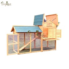 High quality cheap wooden chicken coop with egg box wholesale