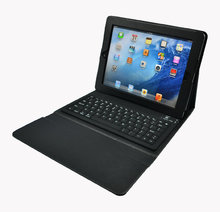 leather tablet case for ipad case for ipad 2 3 4 bluetooth keyboard PU leather case with high quality with bluetooth 3.0