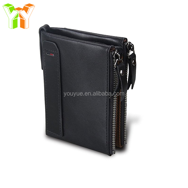 RFID Mens Wallets Genuine Lether Wallet for Men