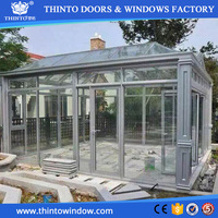 New design popular high quality aluminium curved lowes sunrooms for sale
