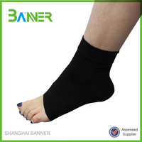 Qualified compression nylon knitted elastic sports ankle support