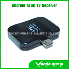 New Arrival Android PAD TV tuner Micro USB dongle ATSC tv decoder for Android phone