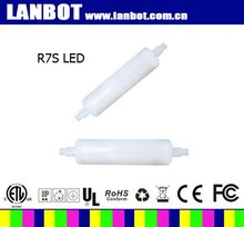 r7s led 78mm 10w 800Lm 118mm warm white and milky silicone R7S LED bulb 5w 78mm dimmable