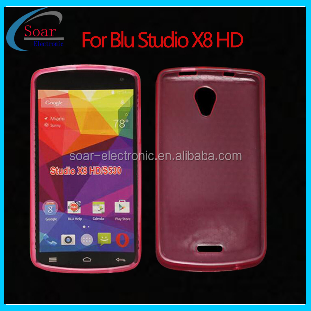 China Supplier mobile phone cover for Blu studio X8 HD TPU Case for Blu Studio S530