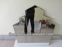 silver crown mirror for decoration