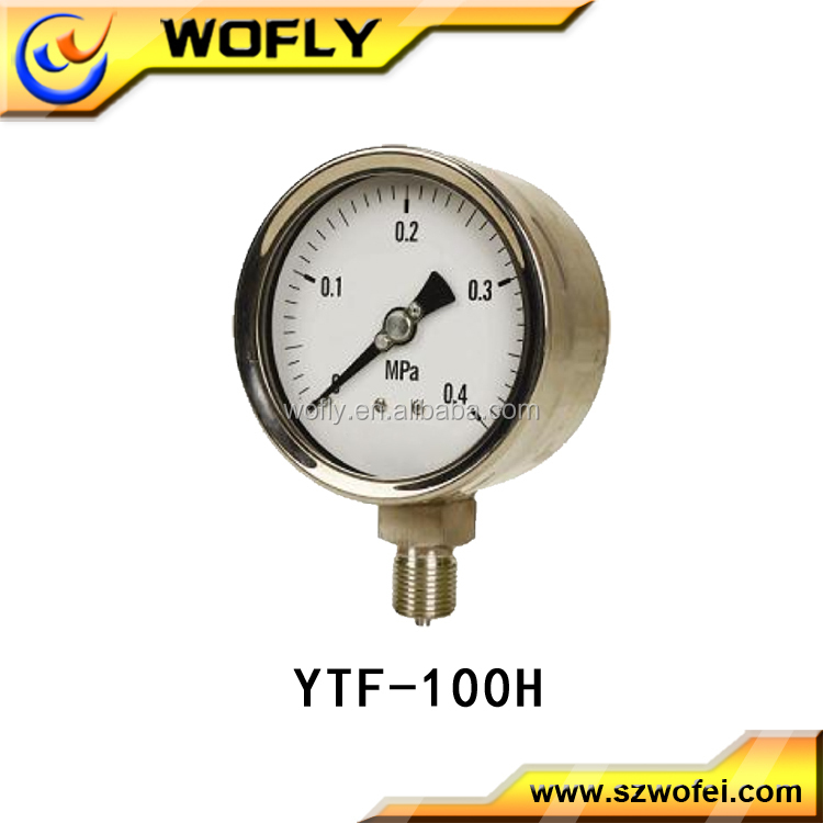 oil bourdon tube pressure gauge manometer