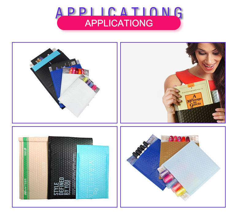 Customized printed decorative bubble mailers china manufacturers direct supply