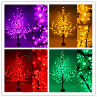 2014 New mini artificial christmas tree decoration with cherry blossom flower Hight 150cm 480leds 30w 110v-220v