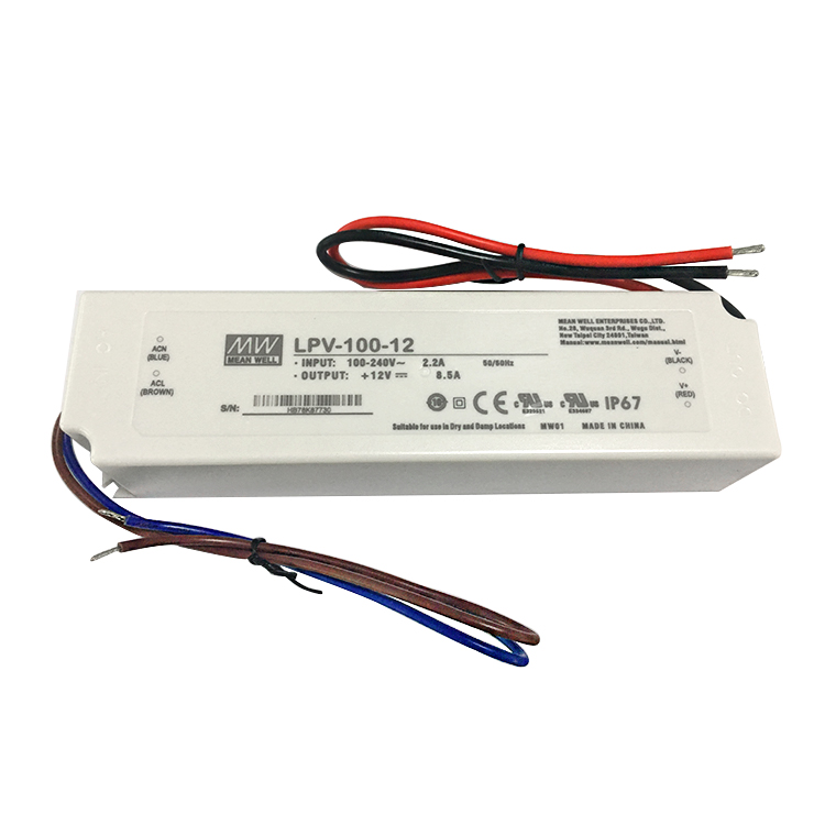 MeanWell LPV-100-12 100W 12v 8a ip67 plastic waterproof led power supply