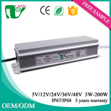 constant Voltage 6.25A waterproof led drivers CE approved rainproof led power supply 24v dc