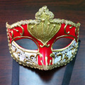 Masquerade Mask Princess Venice men and women half face black lace metal hollow mask