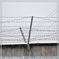 Razor barbed wire +fence post++wire mesh fence (easy installation )