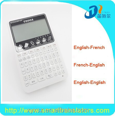 audio 6 language translator with calculator machine