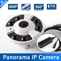 180/360 Degree Wide Angle CCTV NightVision 4MP Fisheye Panoramic IP Camera With POE Port