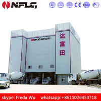 Environment friendly ready-mixed concrete batching plant hls60 for sale