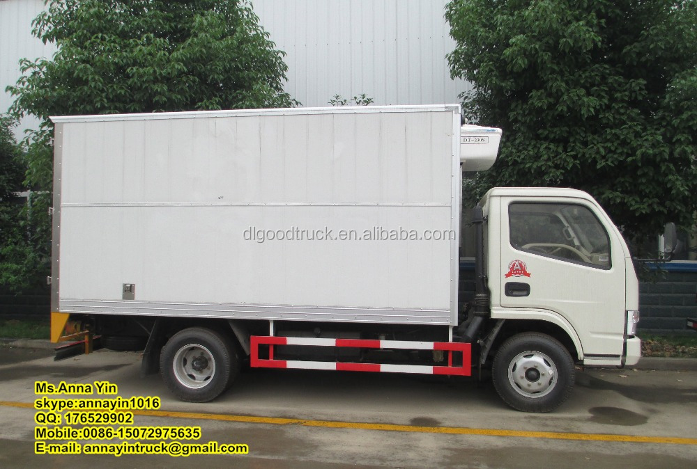 Dongfeng 4*2 Reefer Van Truck refrigerated box truck Chiller Truck