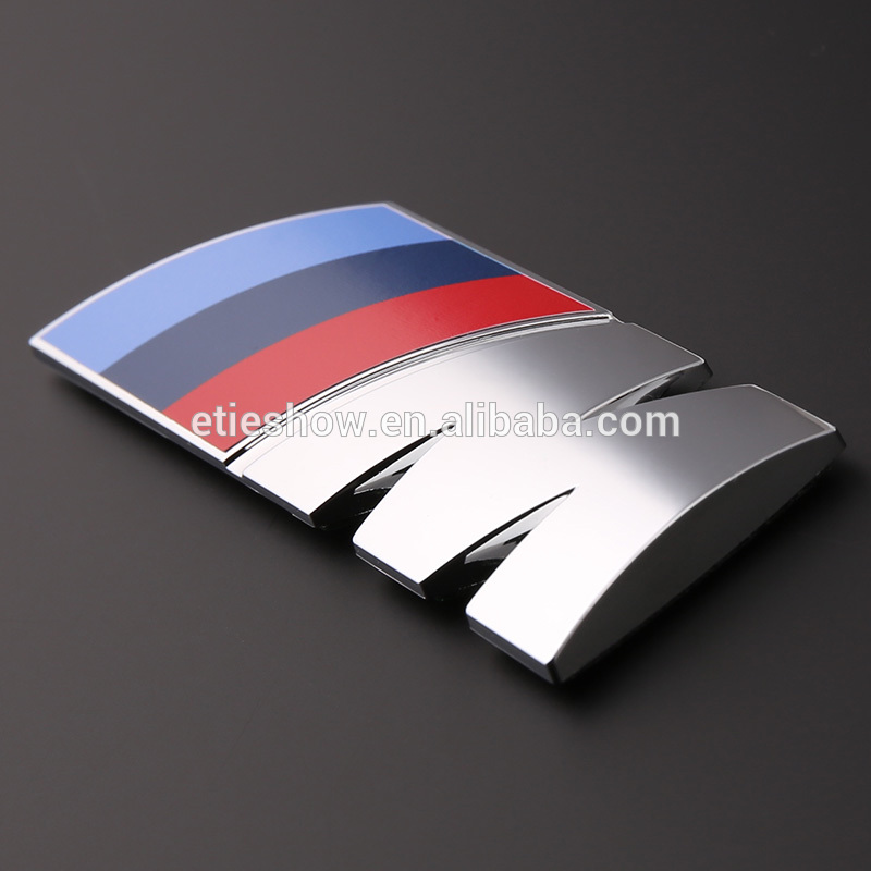 ETIE Car 3D Sticker ABS Chrome Emblems Badge