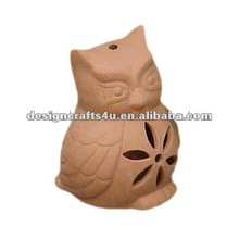 Terracotta Owl Shaped Tree Hanging Lantern for Outdoor