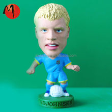 Custom 3d soccer player action figure/OEM plastic action figures plastic toy football player