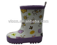 Little lovely sheep pattern rubber rain boots girls wellington boots