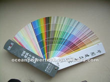 Paint shade code / color chart / fandeck card with portable design