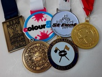 3.5mm thickness 3 inch gold medals with one side design 60% FedEx discount