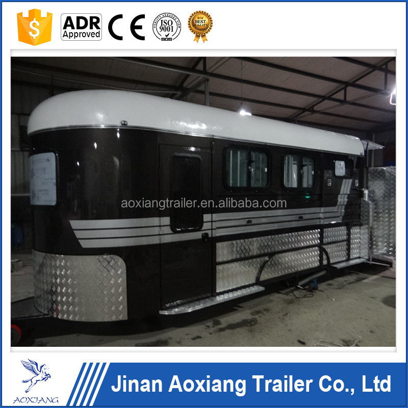deluxe horse float with sliding window,caravan horse trailer with australia standard