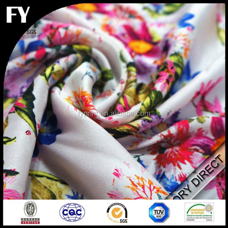 Chinese factory 100% silk fabrics printed in high quality