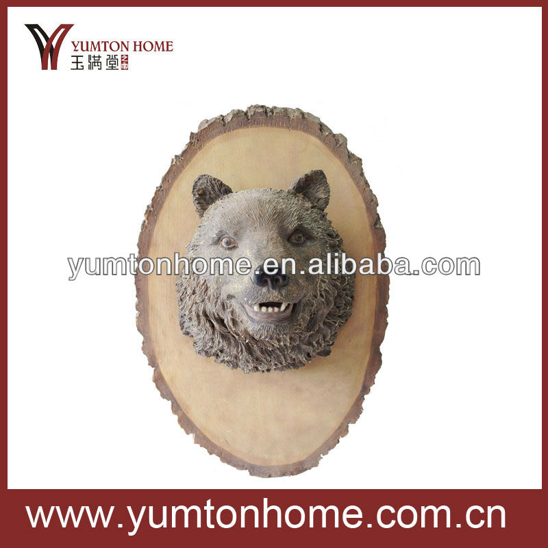Polyresin wall decoration bear head