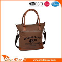 China suppliers high quality retro waxed canvas handbag leisure tote bag
