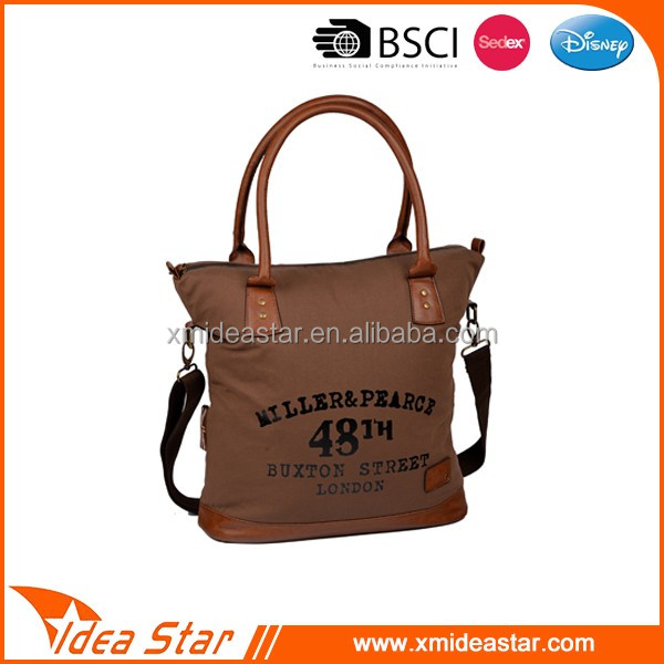 New arrival top quality retro waxed canvas handbag leisure tote bag