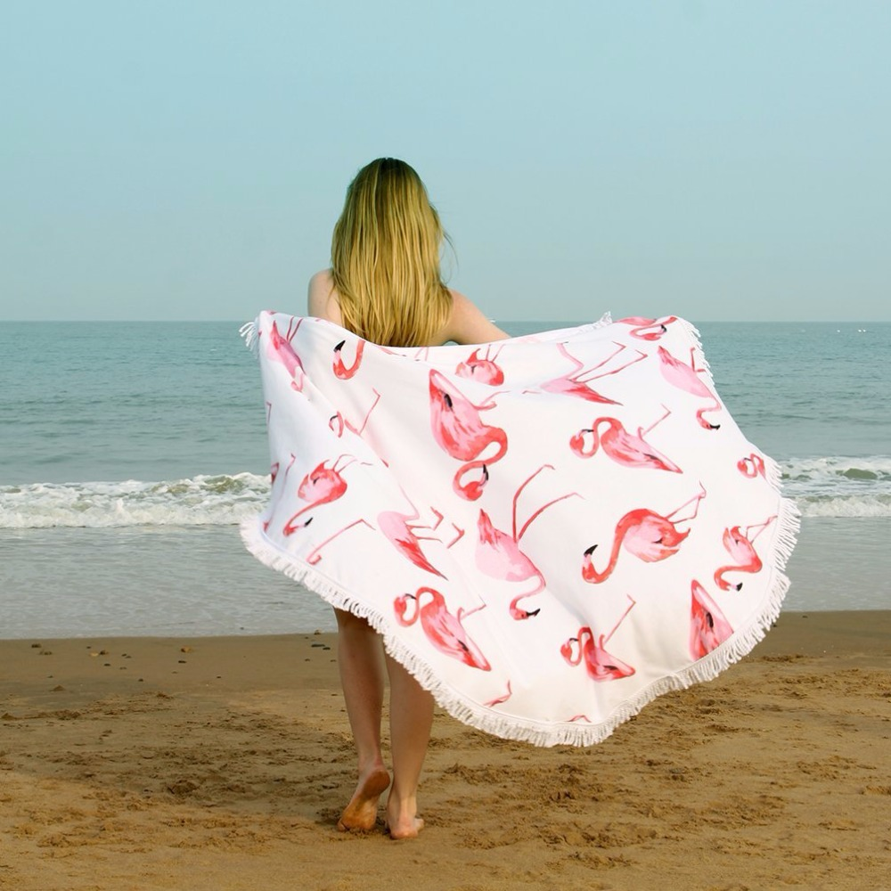 List manufacturers of hr certification online buy hr alibaba china supplier microfiber blanket with tassels round yoga mat oversized wrap skirt round beach towels xflitez Choice Image
