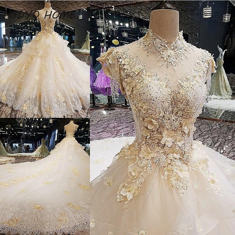 luxurious Amazing wedding dresses 2017 crystal diamond bling with ...