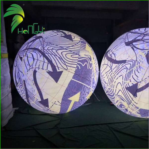 Event Floating Inflatable Ball With LED Light / Large Concert Decor Light Helium Balloon
